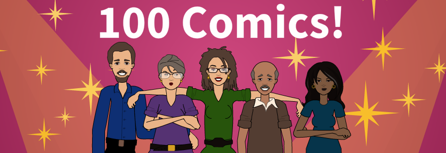 100 Comics Banner - Cropped